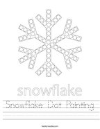 Snowflake Dot Painting Handwriting Sheet