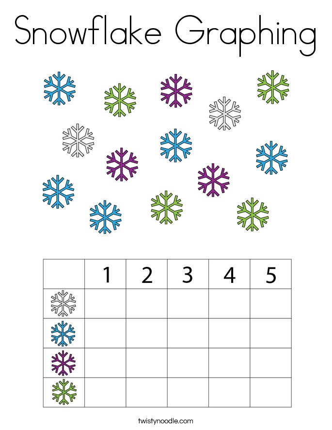 Snowflake Graphing Coloring Page