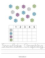 Snowflake Graphing Handwriting Sheet