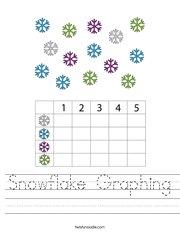 Snowflake Graphing Handwriting Sheet