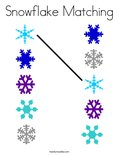 Snowflake Matching Coloring Page