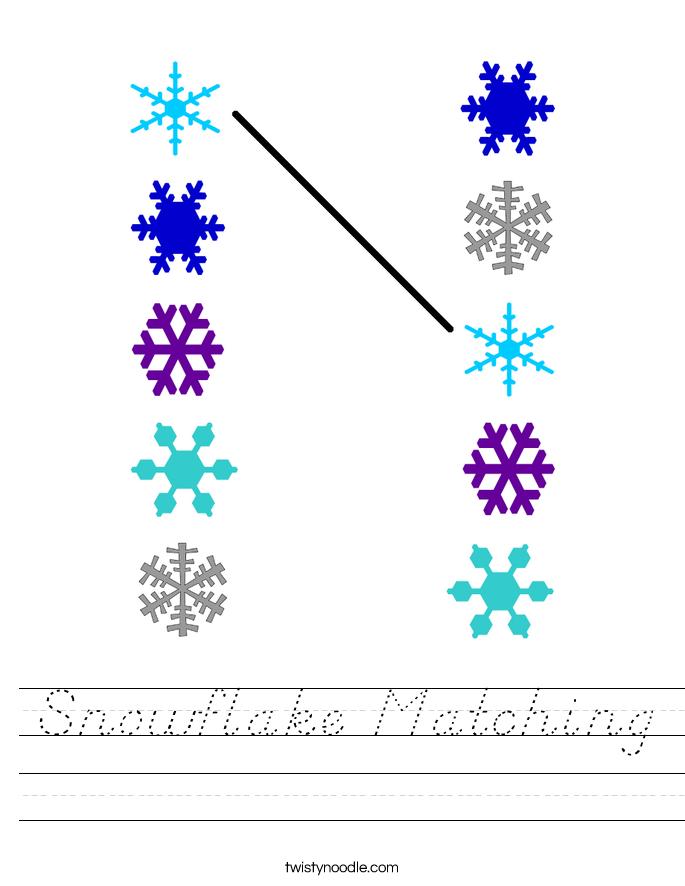 Snowflake Matching Worksheet