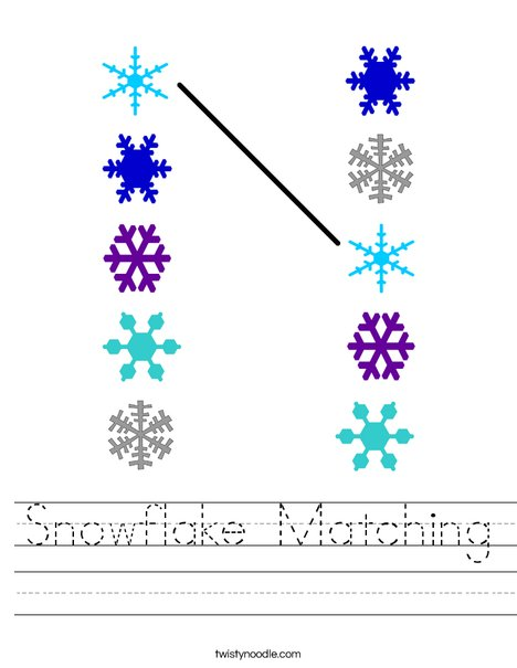 Snowflake Matching Worksheet