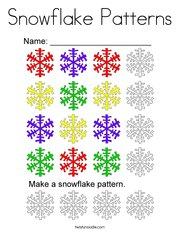 Snowflake Patterns Coloring Page