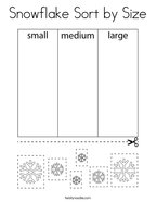 Snowflake Sort by Size Coloring Page
