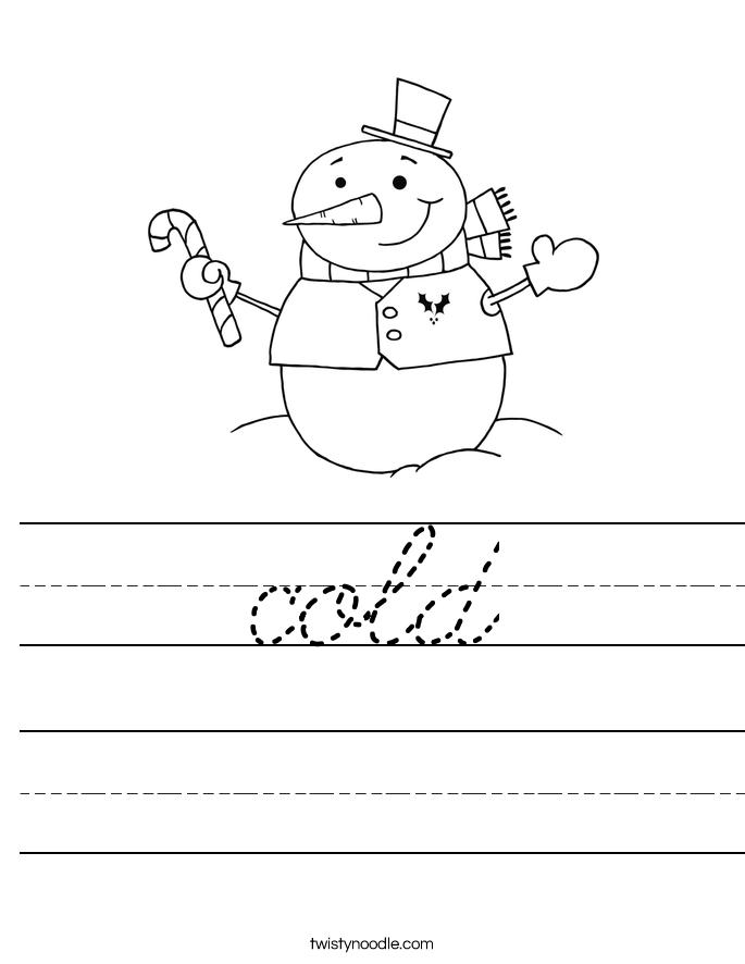 cold Worksheet