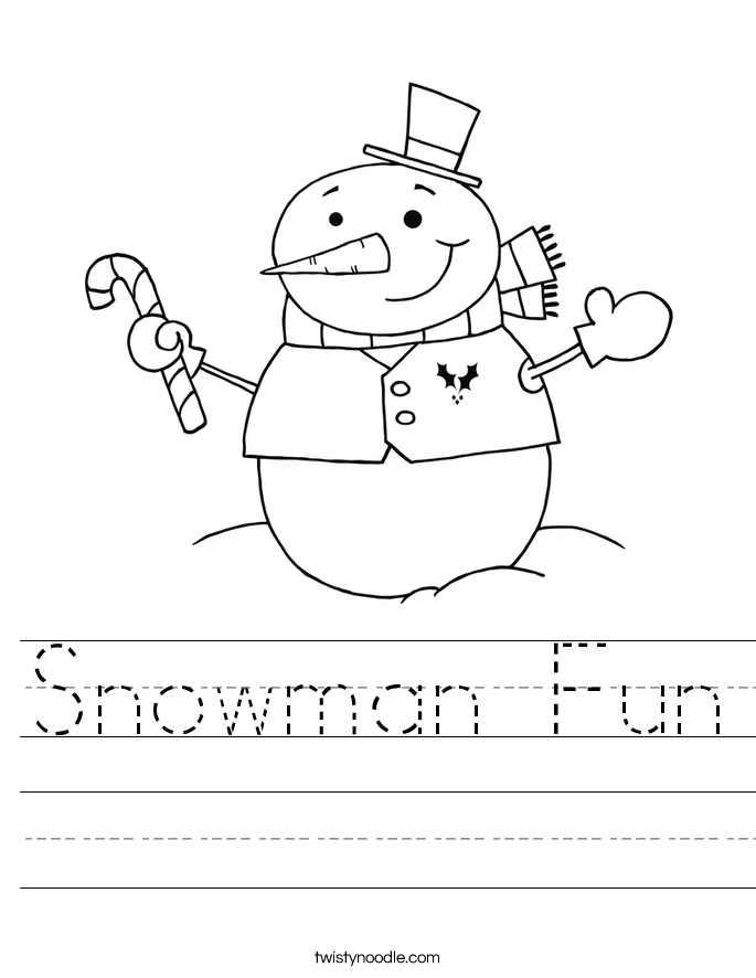 Snowman Fun Worksheet