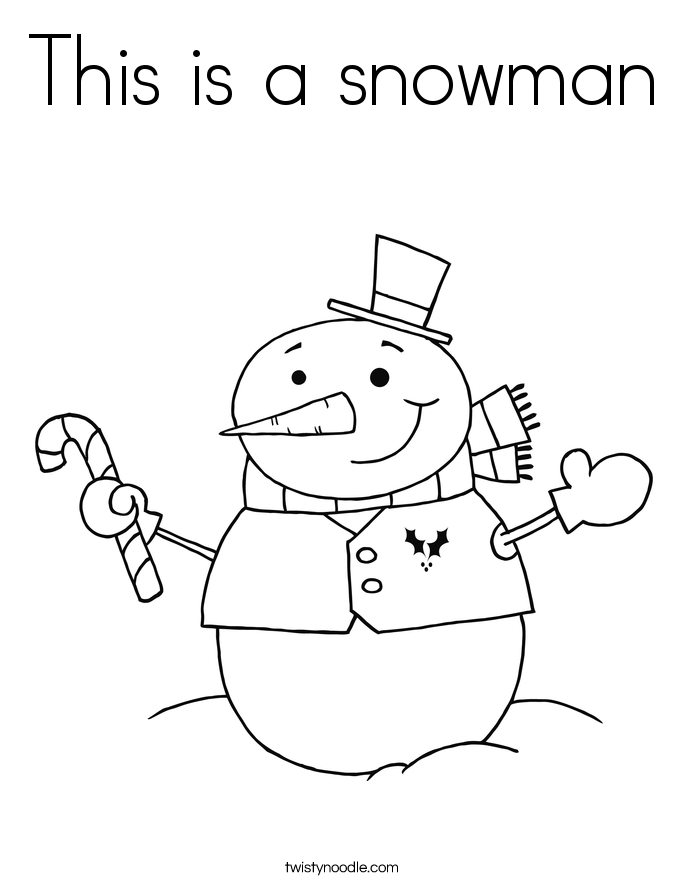 This is a snowman Coloring Page