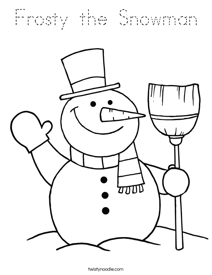 mrs frosty coloring pages - photo#19