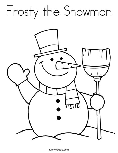 Frosty the snowman coloring page twisty noodle for Frosty the snowman coloring pages