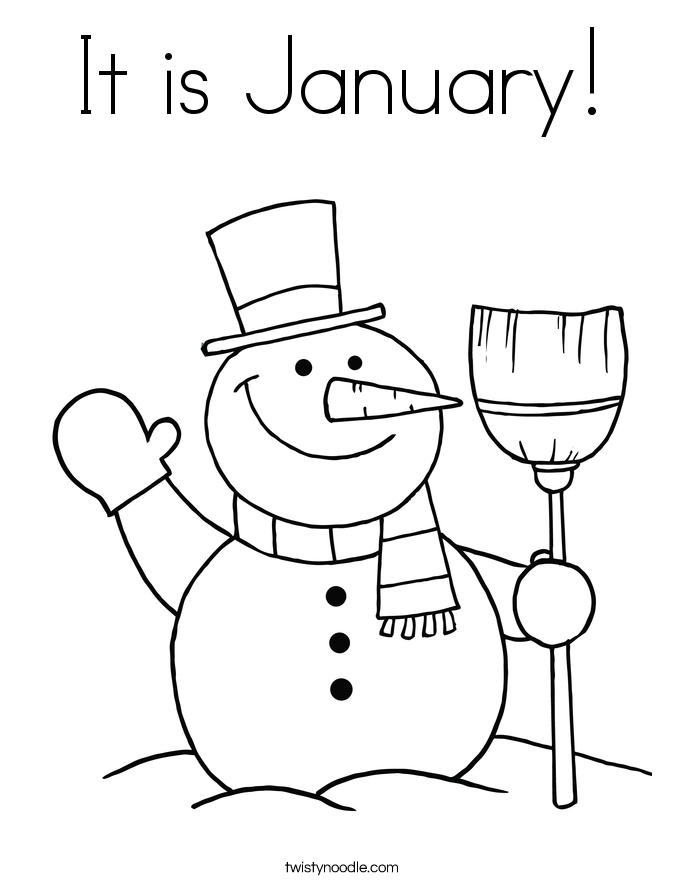 It is January! Coloring Page