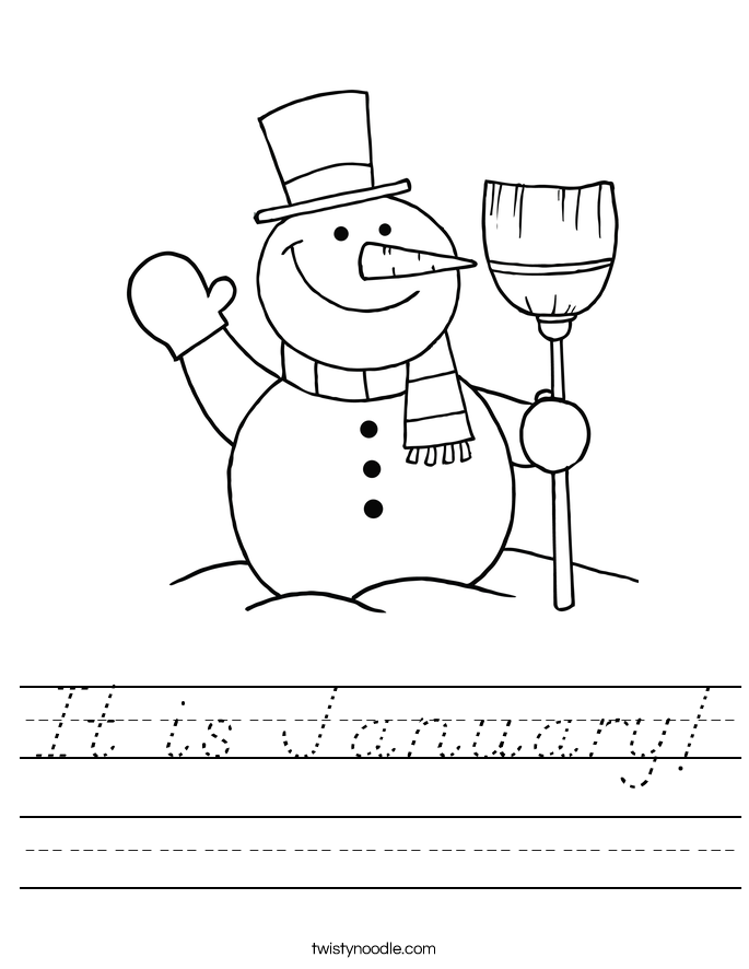 It is January! Worksheet