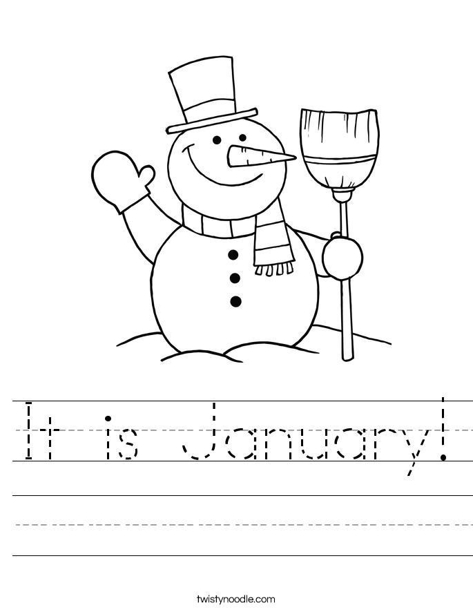 It is January! Worksheet