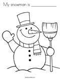 My snowman is ____________ Coloring Page
