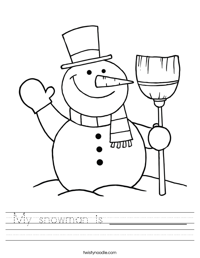 My snowman is ____________ Worksheet