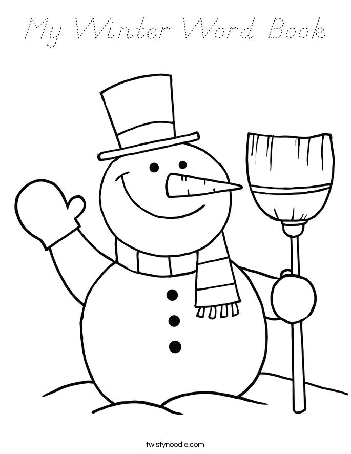 My Winter Word Book Coloring Page