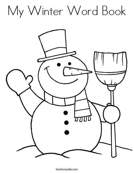 My Winter Word Book Coloring Page - Twisty Noodle