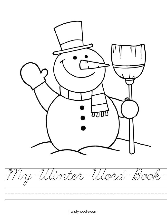 My Winter Word Book Worksheet