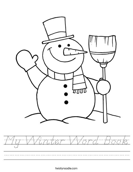 Snowman Worksheet