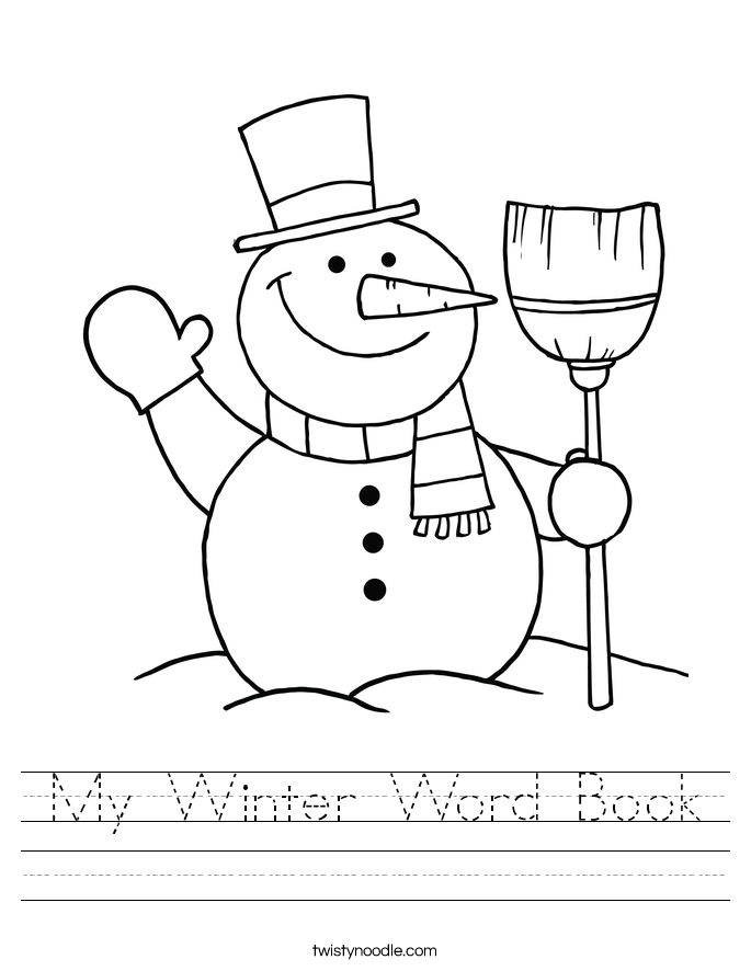 My Winter Word Book Worksheet