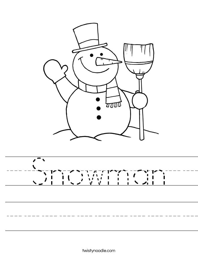 Change 2010 Style >> Snowman Worksheet - Twisty Noodle