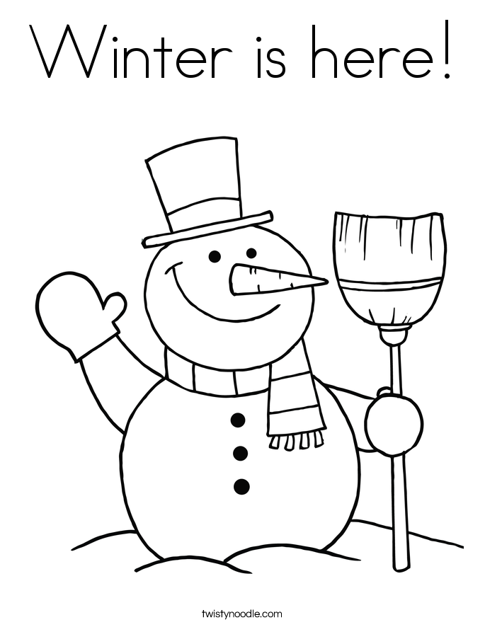 Winter is here! Coloring Page