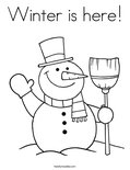 Winter is here!Coloring Page