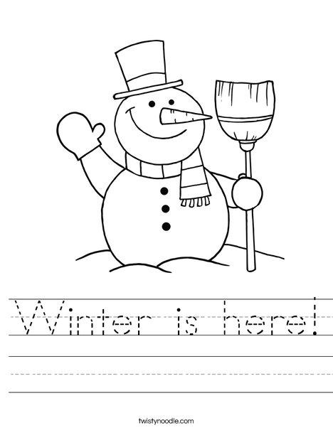 Snowman Worksheet