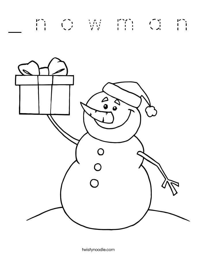 _ n o w m a n Coloring Page