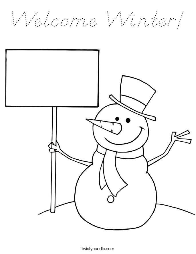 Welcome Winter! Coloring Page