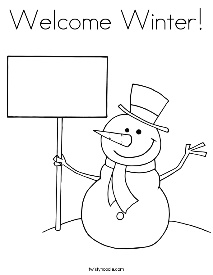 Wele Winter Coloring Page Twisty Noodle