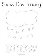 Snowy Day Tracing Coloring Page
