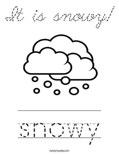 Snowy Coloring Page