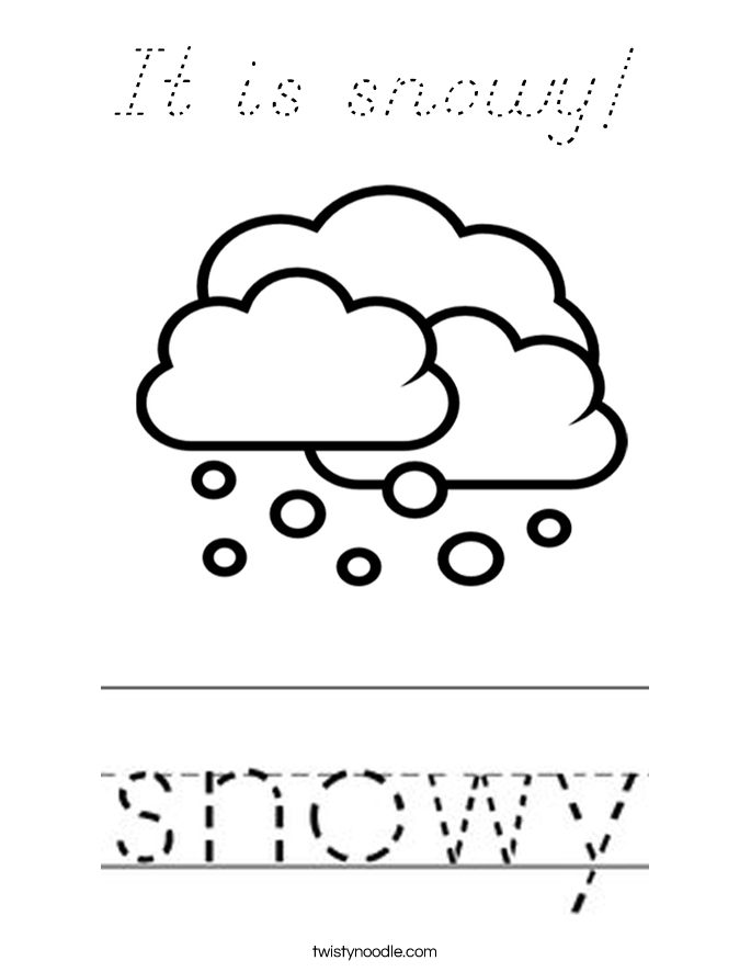 It is snowy! Coloring Page
