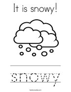 It is snowy Coloring Page