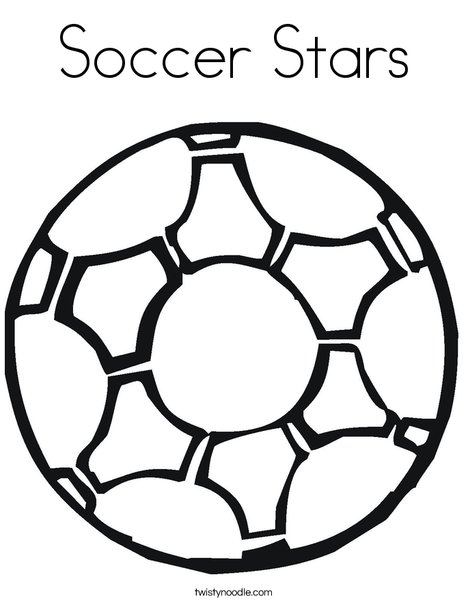 Soccer Ball 2 Coloring Page