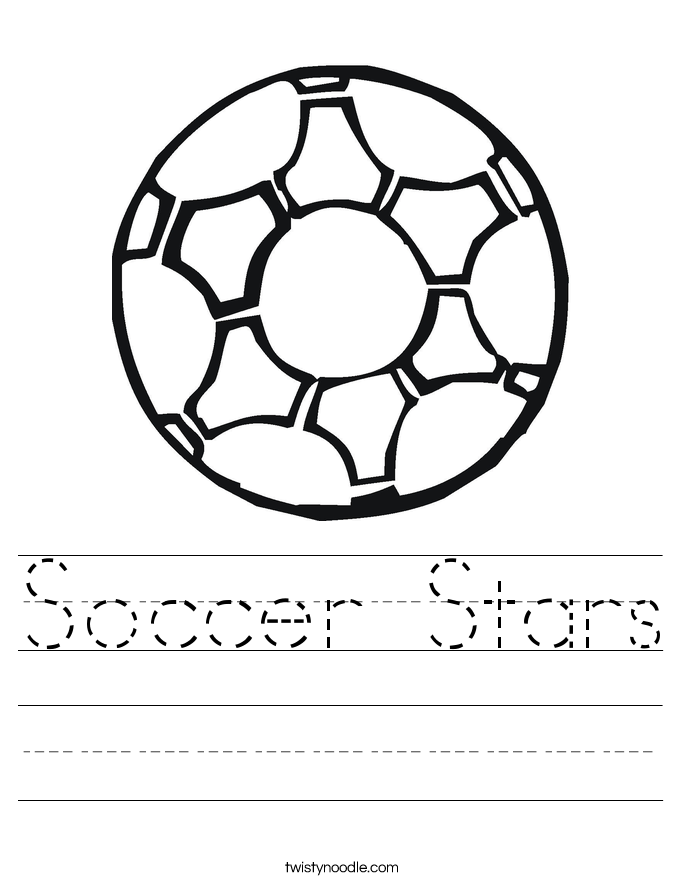 Soccer Stars Worksheet