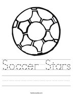 Soccer Stars Handwriting Sheet