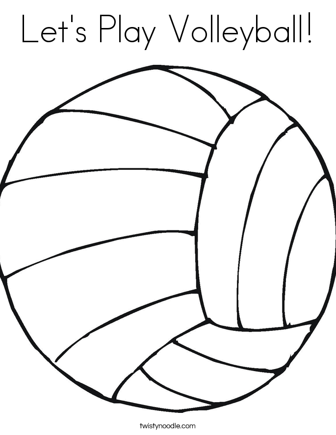 Let's Play Volleyball! Coloring Page