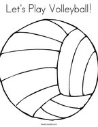 Let's Play Volleyball Coloring Page