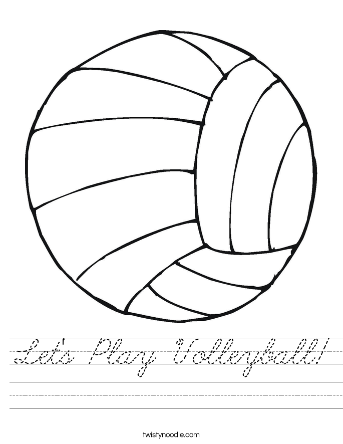Let's Play Volleyball! Worksheet