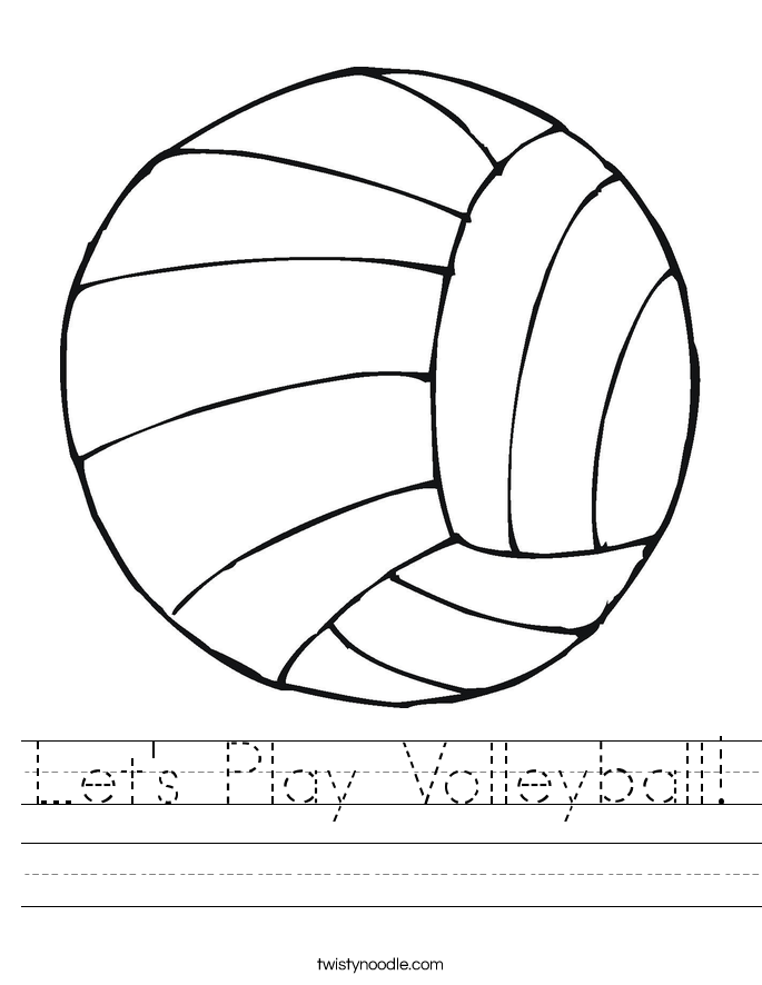 Lets Play Volleyball Worksheet Twisty Noodle – Volleyball Worksheets