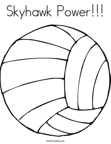 Skyhawk Power Coloring Page Twisty Noodle