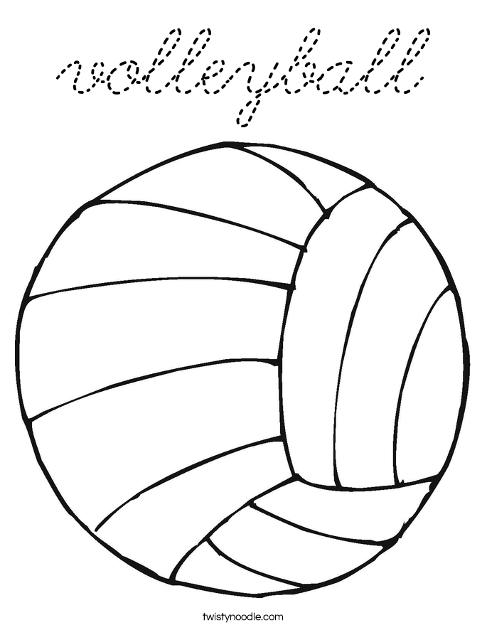 volleyball player coloring pages - cute volleyball player coloring page coloring pages