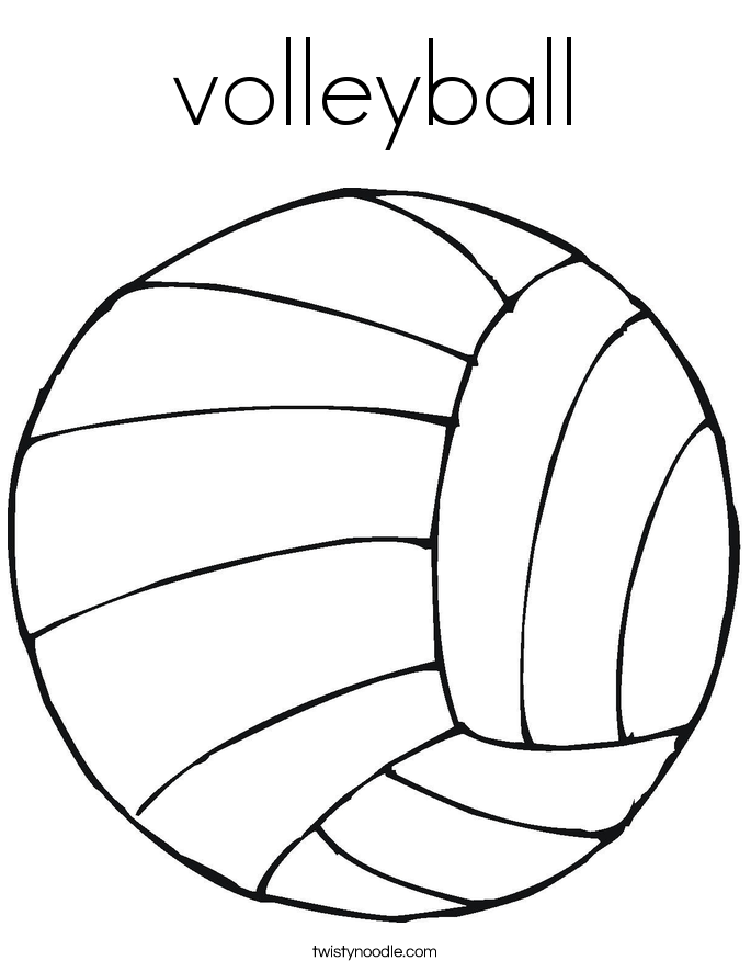 Coloring Pages For Volleyball : Volleyball coloring page twisty noodle