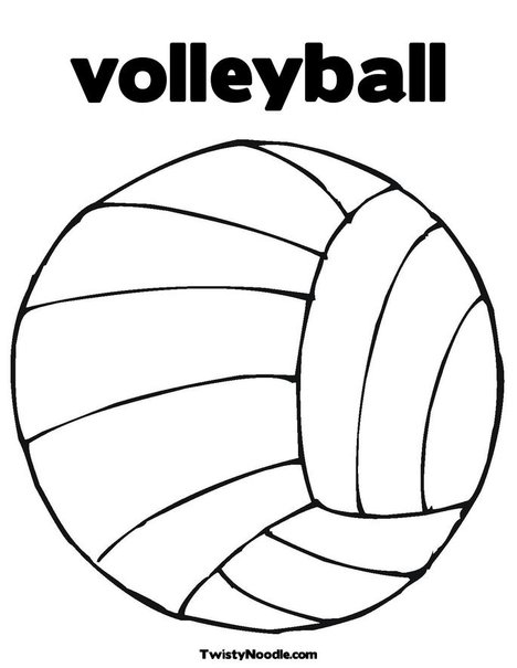 Cute volleyball coloring pages coloring pages for Free printable volleyball coloring pages