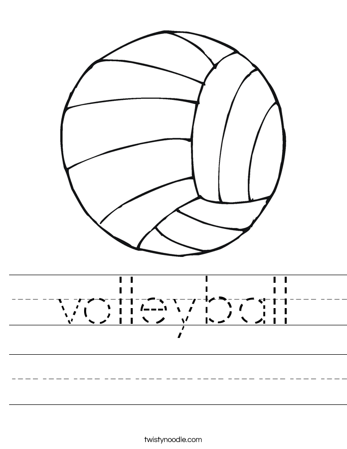 volleyball Worksheet - Twisty Noodle