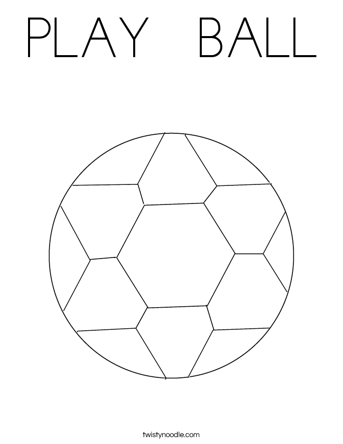 PLAY   BALL Coloring Page
