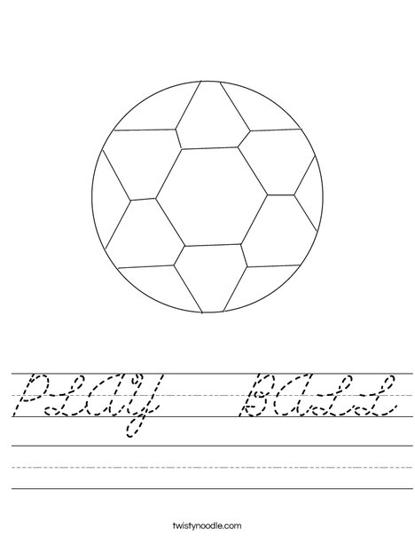 Soccer Ball 4 Worksheet