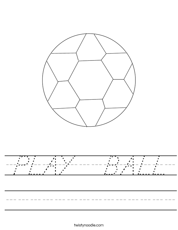PLAY   BALL Worksheet